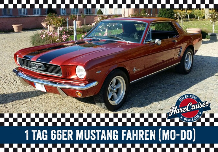 1 tag 66er mustang fahren mo do montag bis donnerstag mustang oldtimer mieten. Black Bedroom Furniture Sets. Home Design Ideas