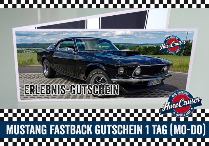 1 Tag (Mo-Do) Mustang Oldtimer Fastback fahren - Gutschein