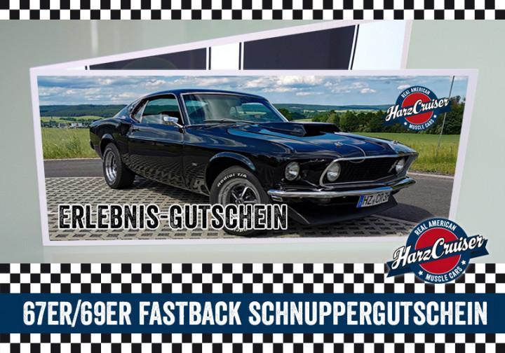 Mustang Oldtimer Fastback Intensiv-Schnuppern - 3 Stunden - Gutschein