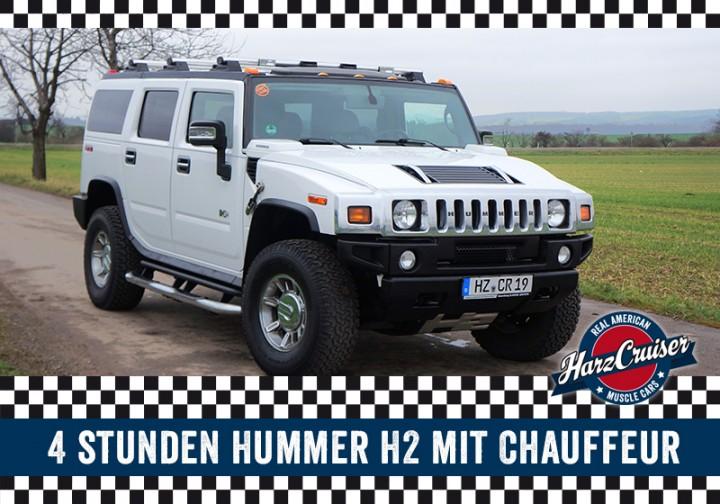 4 Stunden Hummer H2 mit Chauffeur