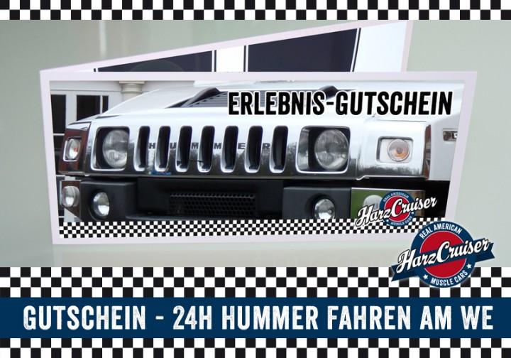 24 Stunden (am WE) Hummer H2 fahren - Gutschein