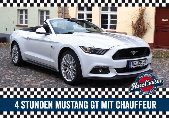 4 Stunden Mustang GT Cabrio mit Chauffeur