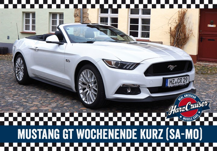 Mustang GT Cabrio Wochenende kurz - Samstag bis Montag