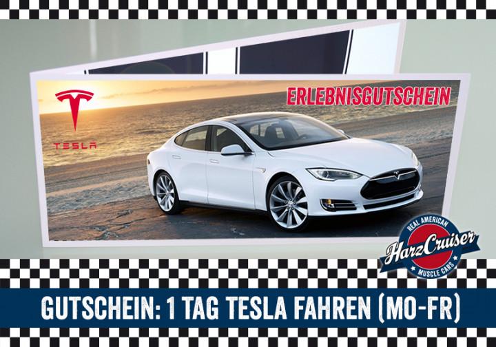 Gutschein: 1 Tag Tesla Model S fahren (Mo-Fr)
