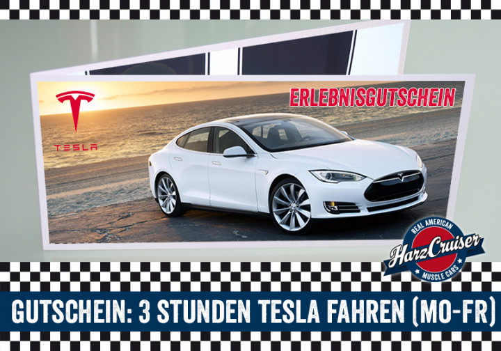 Gutschein - Tesla Model S Intensiv-Schnuppern - 3 Stunden