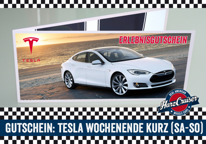 Gutschein: Tesla Model S - Wochenende kurz (Sa-So)