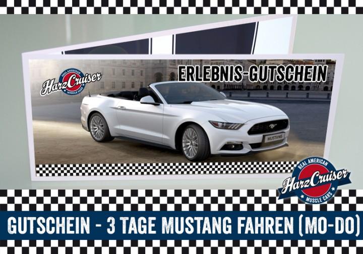3 Tage (Mo-Do) Mustang GT fahren - Gutschein