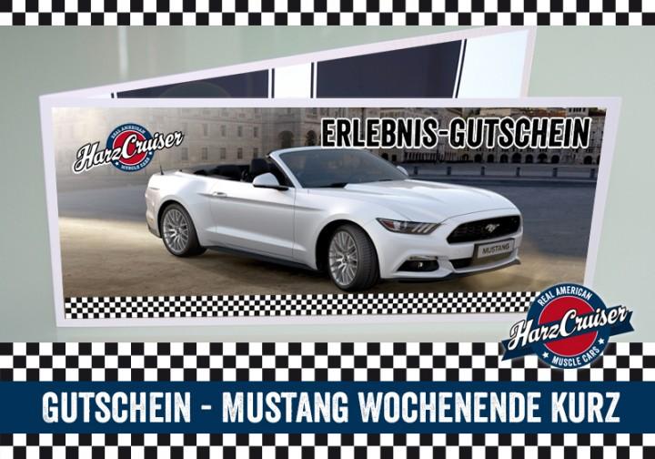 Mustang GT Wochenende kurz - Gutschein
