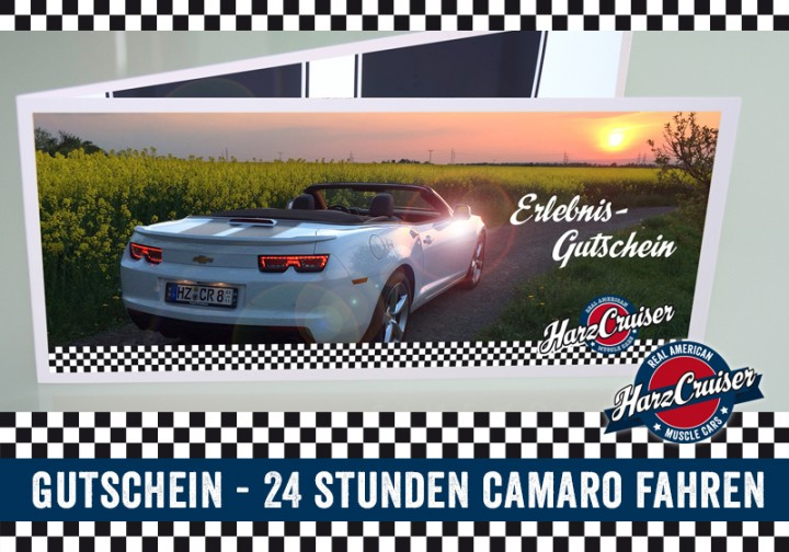 24 Stunden (am WE) Camaro fahren - Gutschein