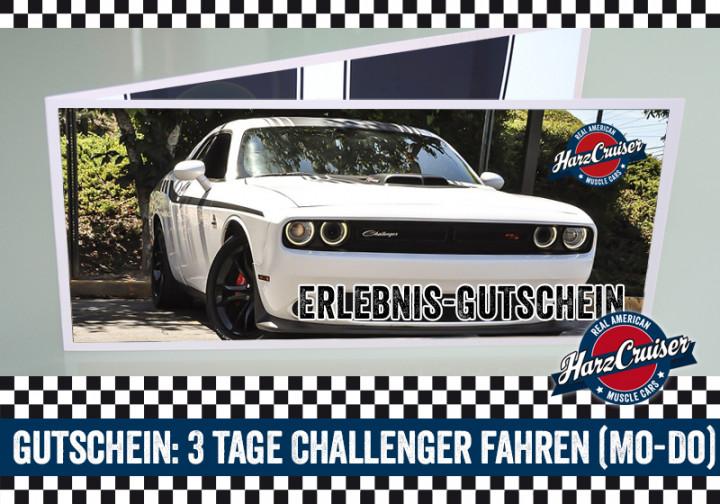 3 Tage (Mo-Do) Dodge Challenger fahren - Gutschein