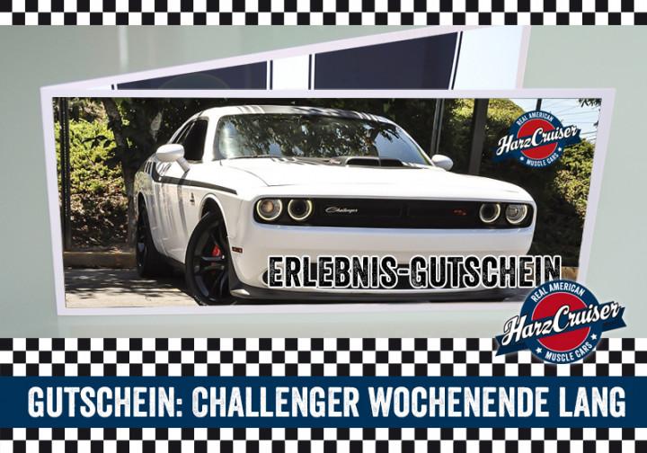 Dodge Challenger Wochenende lang - Gutschein