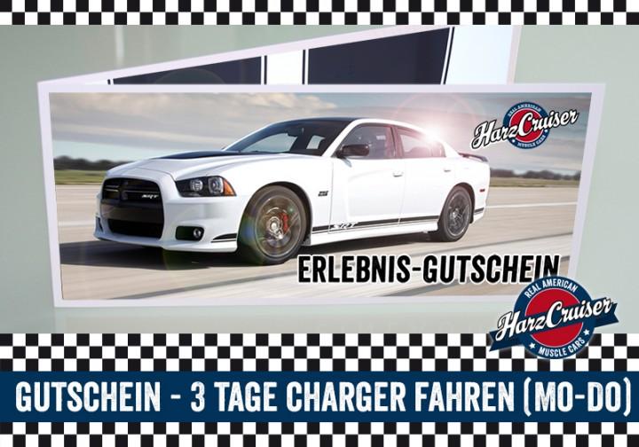 3 Tage (Mo-Do) Dodge Charger SRT8 fahren - Gutschein