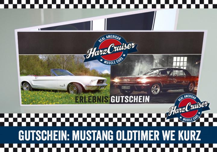Mustang Oldtimer Wochenende kurz - Gutschein