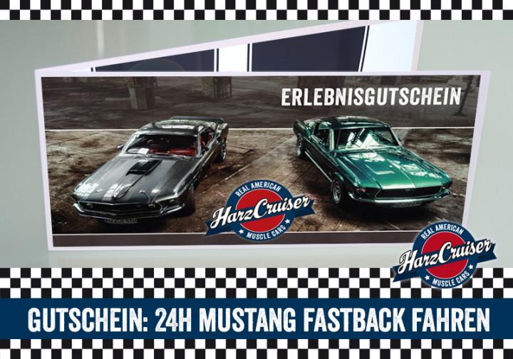 24 Stunden (am WE) Mustang Oldtimer Fastback fahren - Gutschein