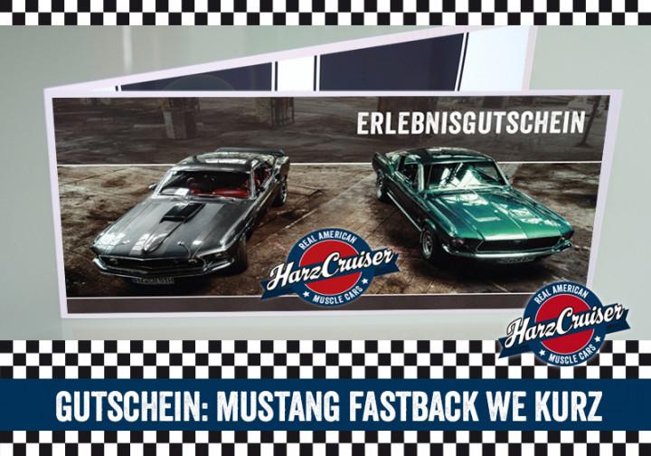 Mustang Oldtimer Fastback Wochenende kurz - Gutschein