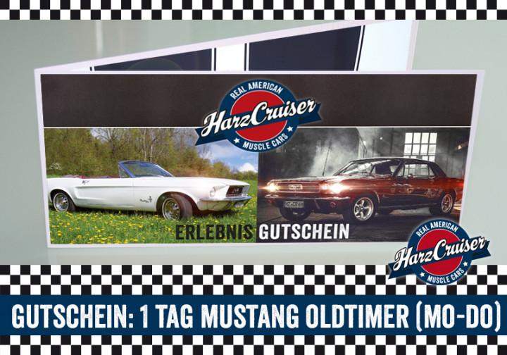 1 Tag (Mo-Do) Mustang Oldtimer fahren - Gutschein