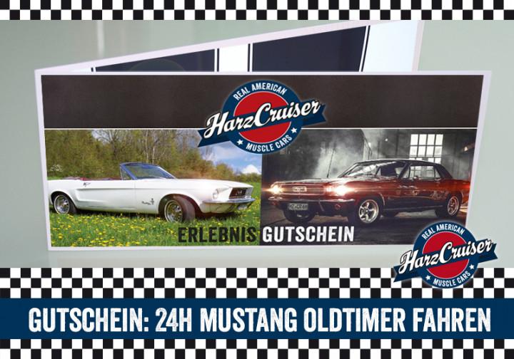24 Stunden (am WE) Mustang Oldtimer fahren - Gutschein