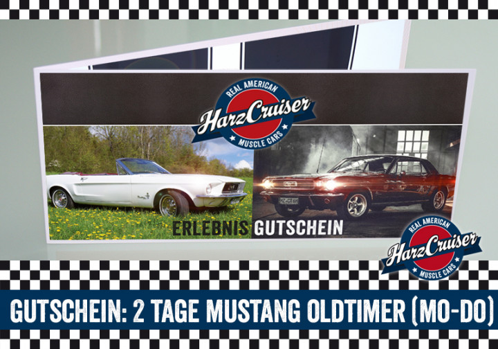 2 Tage (Mo-Do) Mustang Oldtimer fahren - Gutschein