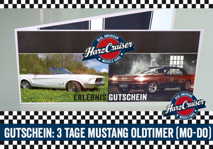 3 Tage (Mo-Do) Mustang Oldtimer fahren - Gutschein