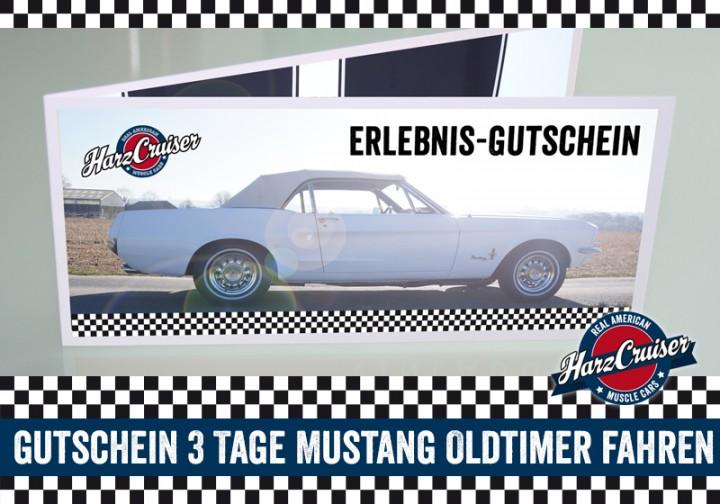 3 Tage (Mo-Do) Mustang Oldtimer fahren (Mo - Do) - Gutschein