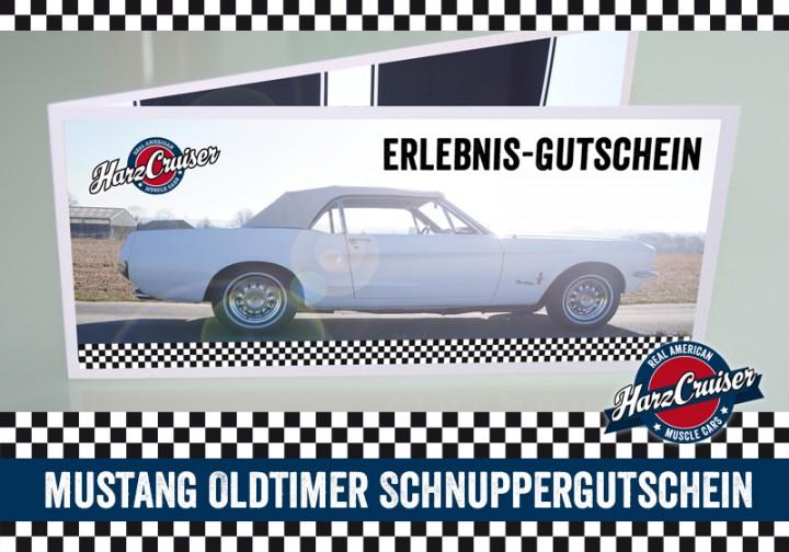 Mustang Oldtimer Intensiv-Schnuppern - 3 Stunden - Gutschein
