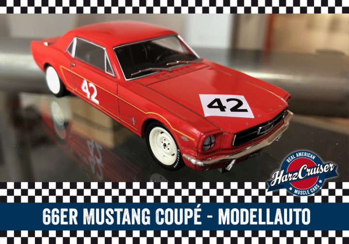 66er Mustang-Oldtimer-Modellauto - perfekt zum dazuschenken