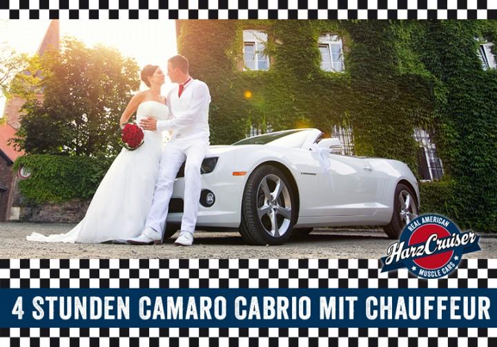 4 Stunden Camaro Cabrio mit Chauffeur